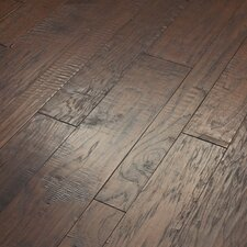 Hudson Bay Mixed Width Engineered Handscraped Hickory Flooring in Brushwood