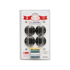 4 Piece Electric Range Replacement Knob Set in White