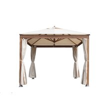 Alize Square Premium Laminated Bamboo Pavilion with Curtains