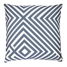 Maze Graphic Stripes Throw Pillow