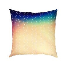 Diamond Sunset Embroidered Throw Pillow