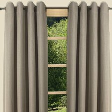 Canvas Black Out Grommet Curtain Single Panel