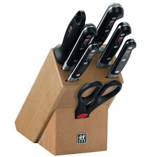 "Professional ""S"" 8 Piece Knife Set in Knife Block"