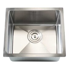 "Ariel 17"" x 15"" Single Bowl Undermount Kitchen Sink"