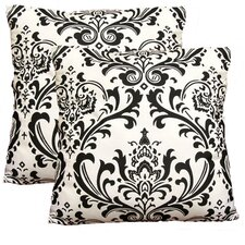 Damask Decorative Cotton Pillow (Set of 2)