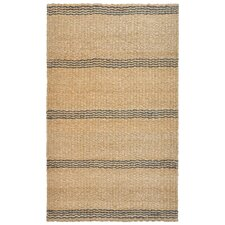 Aspro Grey / Natural Stripe Rug