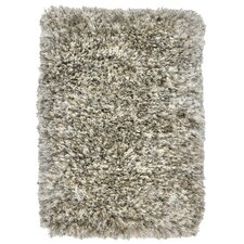 Elegante Light Grey Shag Area Rug