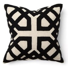 African Mod Kalena Applique Throw Pillow