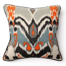 African Mod Keke Ikat Print Throw Pillow