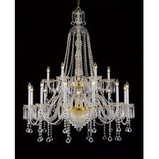 18 Light Crystal Chandelier