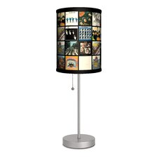 """The Beatles Album Covers 20"""" H Table Lamp with Drum Shade"""