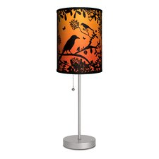 "Artist Cole Gerst ""Blackbird"" 20"" H Table Lamp with Drum Shade"