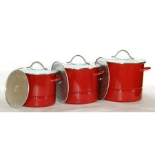 3-Piece Stock Pot with Lid (Set of 3)
