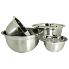 Euro Style 4-Piece Stainless Steel Mixing Bowl Set