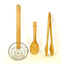 Cook's Corner 3 Piece Bamboo Cooking Tool Set