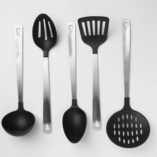 Cook's Corner 5-Piece Nylon and Stainless Steel Kitchen Tool Set