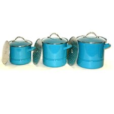 3-Piece Stock Pot Set with Lid