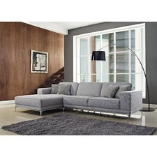 Agata Left Facing Chaise Sectional Sofa