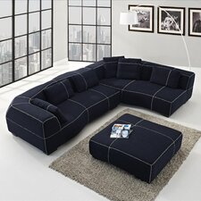 Tina Right Facing Chaise Sectional Sofa