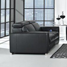Delux Leather Reclining Loveseat