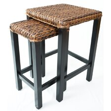 Seagrass 2 Piece Nesting Tables (Set of 2)