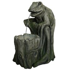 Resin and Fiberglass Frog Fountain