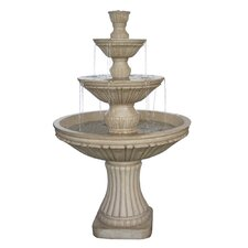 Resin and Fiberglass Tiered Fountain