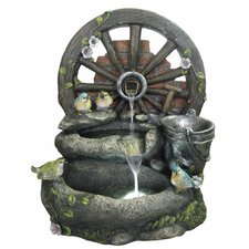 Resin and Fiberglass Mill Wheel Fountain