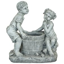 Boy and Girl Planter