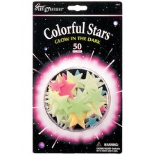Great Explorations Glow in Dark Colorful Stars (Set of 50)
