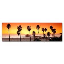 Manhattan Beach Pier Photographic Print on Canvas