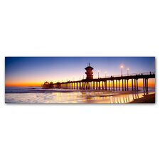 Huntington Beach Pier Photographic Print on Canvas
