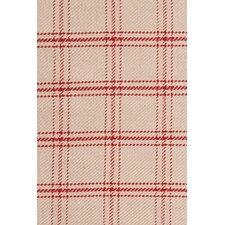 Cooper Red Plaid Rug