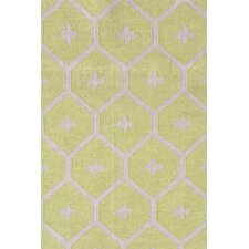 Elizabeth Green/Tan Vintage Indoor/Outdoor Area Rug