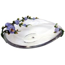 Limited Edition Crystal Plate with Flowers and Bees