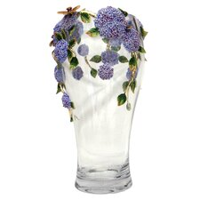 Limited Edition Floral Sculpture on Crystal Vase