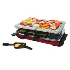 8 Person Classic Raclette Party Grill with Granite Stone
