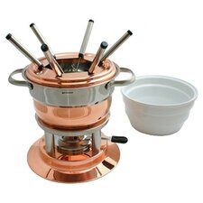 Lausanne 11 Piece Copper Fondue Set