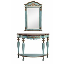 Demilune Console Table and Mirror Set