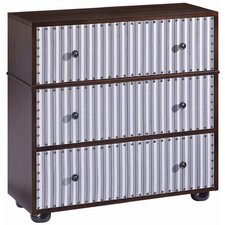 Pippin Ticking 3 Drawer Chest