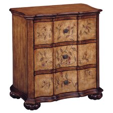 Tuscan Villa Floral 3 Drawer Accent Chest