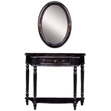 Maribeth Console Table and Mirror Set