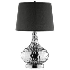 Silver Candy Drop Dimpled Glass Table Lamp