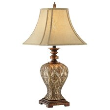 Traditions Basket Weave Resin Table Lamp