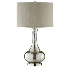 "Casual Elegance Gourd 28"" H Table Lamp with Drum Shade"