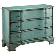 <strong>Stein World</strong> Painted Treasures 3 Drawer Crackle Accent Chest