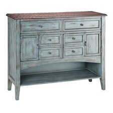 <strong>Stein World</strong> Painted Treasures 2 Door 6 Drawer Accent Moonstone Cabinet