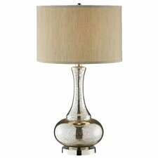 Casual Elegance Glass Gourd Table Lamp