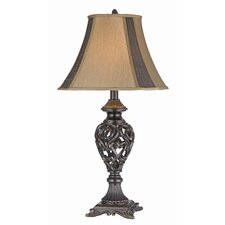 "Intricate 32"" H Table Lamp with Bell Shade (Set of 2)"