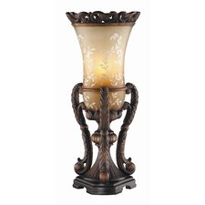 "Ornate Hand Painted Uplight 21.25"" H Table Lamp (Set of 2)"